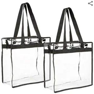 Handy 2-Pk Transparent Bag/Tote Set